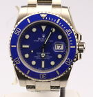 Rolex 18k White Gold Submariner Ceramic Blue 116619LB
