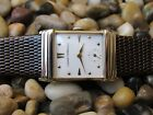 14K SOLID GOLD MENS GIRARD PERREGAUX VINTAGE WATCH w/HOODED LUGS SUPER CLEAN