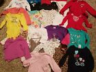 Baby Girls 24 Piece Clothes Lot Sizes 9 24 Months Onsies Long Sleeves Toddler
