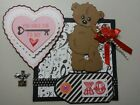 Premade You Hold The Key To My Heart Tear Bear Paper Piecing Mat Set