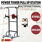 2017 Power Tower Bench Workout Station Pull Up Dip Station Home Gym Strong HOT