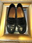 BASS WEEJUNS KATHERINE II BLACK LEATHER PENNY LOAFERS FLATS SLIP ON WOMENS 5 M