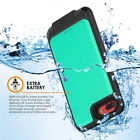 Waterproof Battery Case Rechargeable Power Charger Cover for iPhone X 7 8 Plus