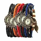 Womens Vintage Wrap Bracelet Pendand Wrist Watch 6Pcs Watches For Teenage Girls