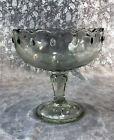 Vintage Teardrop Clear Stem Compote by Indiana Glass *7 1/2