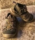 STRIDE RITE BABY RIFF BOYS TODDLER FROG LEATHER SANDAL SHOES SIZE 4W GUC