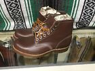 GEORGIA BOOTS Brown Leather Work Boots Mens Size 8 E