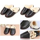 Wodeal Slippers Soft Leather Faux Fleece Lined Clog Slip On Memory Foam Indoor