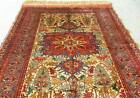 Double sided Persian Bokhara Handmade Hand knotted 100% Silk Rug Carpet Oriental