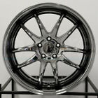 4 New 19 Aodhan DS02 DS2 Wheels 19x95 19x11 5x1143 22 22 Black Vacuum Stagger