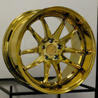 4 New 19 Aodhan DS02 DS2 Wheels 19x95 19x11 5x1143 22 22 Gold Vacuum Staggere