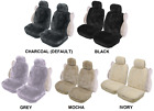 PAIR 16mm SHEEPSKIN WOOL FLEECE SEAT COVERS FOR BMW 523I