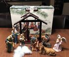 Kirkland Signature 13 PC Nativity Set w Wood Creche 75177 Missing Mary Piece