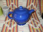 VINTAGE COBALT FIESTA MEDIUM TEA POT & LID  FIESTAWARE                   w27