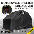 Heavy Duty Large Motorcycle Shelter Shed Cover Storage Tent Secure Safe Superior