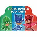 Pack of 8 PJ Masks Its Party Time Birthday Party Post Card Invitation