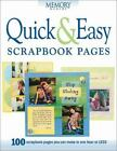 Quick  Easy Scrapbook Pages Memory makers ExLibrary