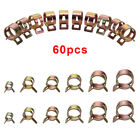 60pcs Fuel Line Hose Spring Clips Water Pipe Air Tube Clamps 6/8/10/12/15mm