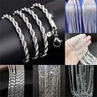 "Wholesale 1-20pcs 925 Sterling Silver Chain Necklace 16-30"" Many Style Jewelry"