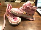 Lelli Kelly Sequin High Top Sneakers Shoes Girls size 23 US 65