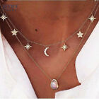 New Fashion Trendy Jewelry Moon Stars Choker Nnecklace Gift For Women Girl Gold