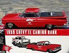 Ertl WIX FILTERS 1959 CHEVY EL CAMINO Car Bank in Diecast Metal - 1:25 Scale by
