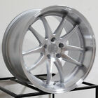 4 New 18 Aodhan DS02 DS2 Wheels 18x95 5x1143 15 Silver Machined Face Rims