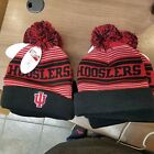 NWT NCAA INDIANA HOOSLERS  EMBROIDERED KNIT BEANIE HAT FREE SHIPPING