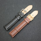 Cheap Unisex Women Men Genuine Leather Black Brown Watch Strap Band New Style