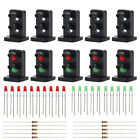 10 sets Target Faces With LEDs Railway Dwarf Signal HO OO Scale 2 Aspects JTD19