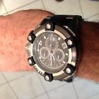 Invicta Grand Octane Two Tone Black & Stainless Swiss Made Retrograde Dive Case!