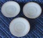 Vintage Fire King White with Gold Trim Set of 3, Saucers Oven Ware, 6