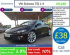 VW Scirocco TSI 14 GOOD BAD CREDIT CAR FINANCE AVAILABLE