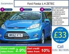 Ford Fiesta 14 ZETEC GOOD BAD CREDIT CAR FINANCE AVAILABLE