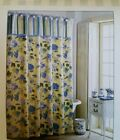 Waverly Blossom Hill Shower Curtain NIP Yellow White Blue Floral Pattern