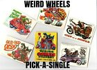 1980 Topps Weird Wheels COMPLETE YOUR SET PICK A SINGLE Sticker Cards