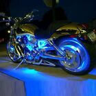 Blue 4pc LED Accent Light Kit - Engine Fairing Body Glow Lighting for Harley