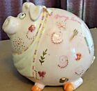 Fitz and Floyd Bring Home the Bacon Pink Ceramic Piggy Bank, F&F Essentials