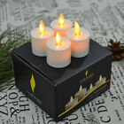 4Pcs Luminara Moving Wick Flameless Battery Tea lights Candle lamps/Timer/Remote