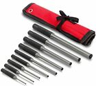 Roll Pin Punch Set Storage Pouch 9 Piece Steel Removal Tool Kit Gun Rifle Watch