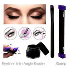 Easy Wing Eyeliner Stamp Eyeliner Ink Cat Eye Angle Brush Tool Long Last