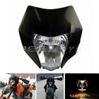 Motorcycle Enduro Dirt Bike Black Headlight Fairing Plastic For Suzuki KTM XCW