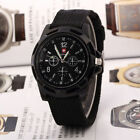 New Outdoor Black Men's Stainless Steel Army Sports Analog Military Watch