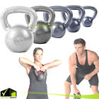 CAP CAST IRON KETTLEBELL 10-80 LBS Weight Fitness Body Training Exercise Gym