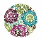 Disposable Round Paper Plate in Fashion Floral Print 8 Piece 7 Multi