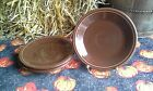 Set 4 SALAD PLATE chocolate brown HOMER LAUGHLIN FIESTA WARE 7.25