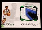 2016-17 PANINI FLAWLESS ANDREW WIGGINS PATCH AUTOGRAPH EMERALD 3 5 STAR SWATCH
