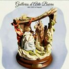 Porcelain Capodimonte Group Nativity Holy Family with hut series Elite