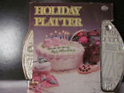 Vintage Glass Holiday Birthday  Platter by Jeannette 11