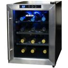 NewAir AW-121E Quiet 12-Bottle Thermoelectric Stainless Steel Door Wine Refriger